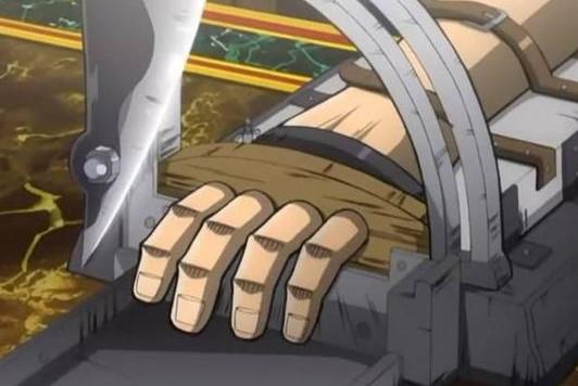 カイジが指を切られるシーン