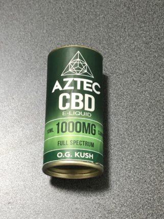 AZTEC社のCBDリキッドフルスペクトラム濃度10%の箱 (o.g.kush)