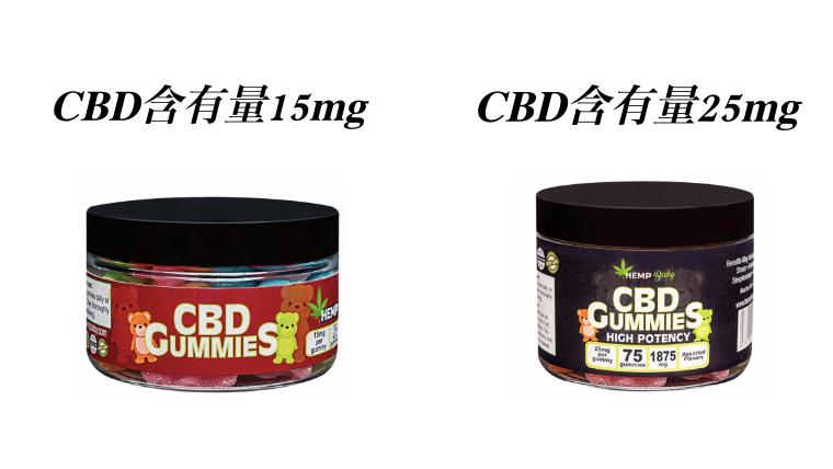 ヘンプベイビーのCBDグミ (CBD含有量別)