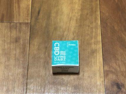 CBD LIVING CBDWAXの箱 (パッケージ)