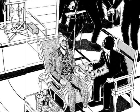 マーシトロンに座るアカギ