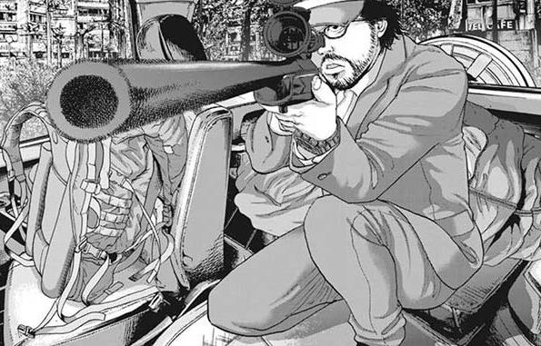 銃で鹿を狙う英雄 アイアムアヒーロー